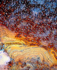 "Industrial Abstract Art Photography ""Nebulous"" - star and galaxy pattern created by rust and corrosion."