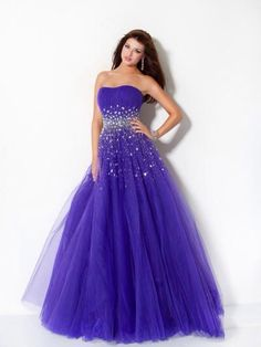 I like this dark purple look, and the sparkly middle