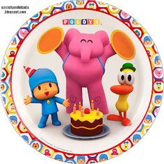 Pocoyo Party Supplies - Dinner Plates Package includes paper dinner plates to match your party theme. This is an officially licensed Pocoyo product. Party In A Box, Party Kit, Party Packs, 1st Birthday Parties, Girl Birthday, Birthday Stuff, Birthday Cake Toppers, Childrens Party, Dinner Plates