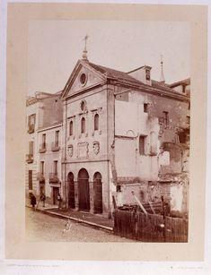 Antigua iglesia de Santa Cruz   Autor:  Jean LAURENT  C/ Bolsa Plaza Santa Cruz (reverso)