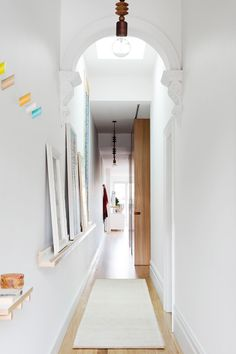 Entrance from bespoke renovation of an old Victorian terrace in Melbourne. Photography: Martina Gemmola | Styling: Ruth Welsby | Story: Australian House & Garden