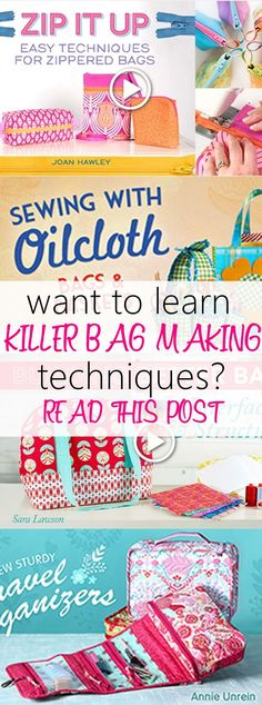 Want to learn killer bag making Techniques to take your bag to the next level of awesomeness? Check out this list of classes that you can take ONLINE to hone your bag making skills. Included in the list are classes for sewing clutch, travel organizers, we Sewing Hacks, Sewing Tutorials, Sewing Crafts, Sewing Tips, Sewing Ideas, Purse Patterns, Sewing Patterns Free, Love Sewing, Sewing Men