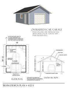 Download free 18 x 22 garage plans for Garage plans free download