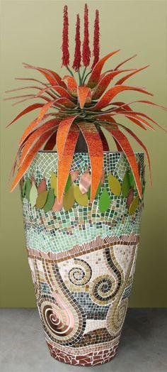 Mosaic planter - part of the 4 elements range