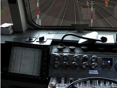 Führerstand Diesellokomotive DB BR 218