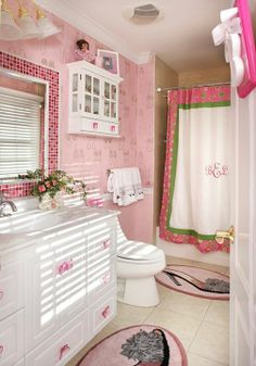 1000 images about girly bathroom on pinterest leopard for Girly bathroom ideas