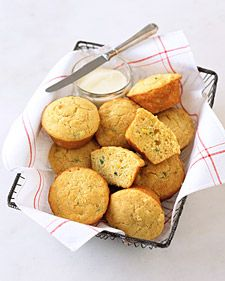 Jalapeno Corn Muffins - Martha Stewart Recipes  (Check the reviews...may be sweeter than some folks like)