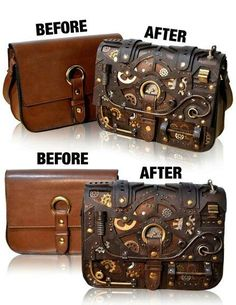 Steam punk purse; hey could this could be a new revenue stream for me; garage sa...