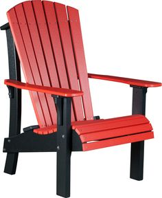 LuxCraft Recycled Plastic Senior Height Adirondack Chair