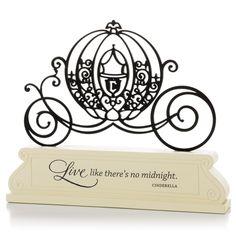 Cinderella Carriage Silhouette - Encouragement Decorative Sentiment   Hallmark