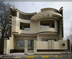 The exterior is the face of the house that everyone will see in the first part. Take a look at the world's most beautiful modern homes and find Classic House Design, Bungalow House Design, Small House Design, Modern House Design, Facade Design, Exterior Design, Architecture Design, Architecture Definition, Online Architecture