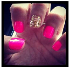 pink and gold #manicure