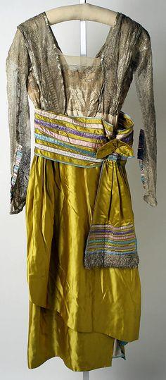 Dress, Evening  Lucile (British, 1863–1935)  Date: 1914–16 Culture: British Medium: silk