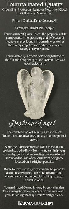 Angel Statue. Tourmalinated Quartz. Desktop Home Decor.            Small Gemstone Meditation & Prayer Talismen   Feng Shui for your car, home or office desktop.   These gemstone statues areperfect forholding in your hand during meditation and prayer. #Angel #Prayer
