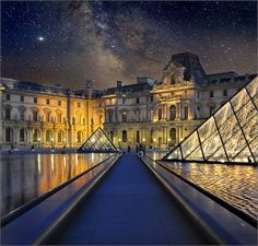 The road of Stars...the Louvre and the Milky Way | Jean-Michel Priaux