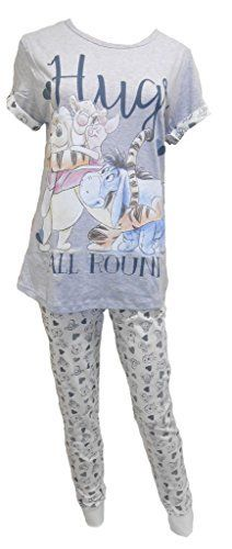 From 10.99 Womens Winnie The Pooh Bear Hugs All Round T-shirt Pyjamas Plus Sizes From 8 To 22