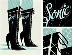 Spike Press/John Solimine poster for Sonic Youth