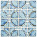 SomerTile 11.75x11.75-in Luna Diva Blue Porcelain Mosaic Tile (Pack of 10)   Overstock.com