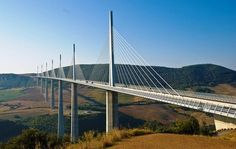 The Millau Viaduct in southern France is the world's highest bridge. It was built across the Tarn valley and opened in 2004. The bridge is 2460 metres long and is found on the A75-A71 autoroute axis from Paris to Montpellier.