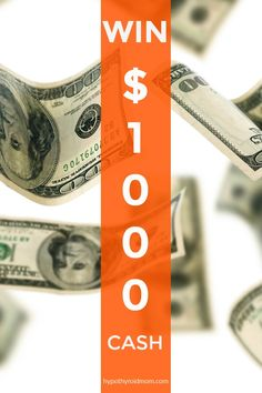 Hypothyroid Mom's 5th anniversary $1000 cash GIVEAWAY HypothyroidMom.com