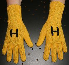 Ravelry: Krypton's Hufflepuff Gloves