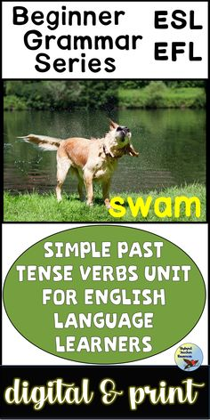 Spruce up your English Grammar Lessons with these Past Tense Verbs Activities.  These activities are geared toward older ESL Newcomers and ESL Beginners. #eslgrammarlessons #eslnewcomers #eslbeginners #esllessons Teaching English Grammar, English Language Learners, French Language Learning, Spanish Language, Learning Spanish, English Writing Exercises, Esl Lessons, Grammar Lessons, English Lessons