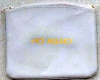 White Leather Rosary Zipper Case