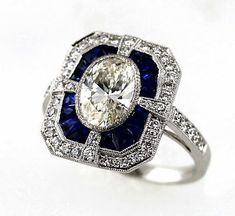 8b7fd3b91c5b9 32 Best Emeralds and diamonds images   Vintage Rings, Diamonds ...