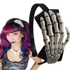 Skeleton Hand BW-hiuspanta - Kauneutta & Kosmetiikkaa - Tukkahärpäkkeet - Underground Store & Piercing Studio
