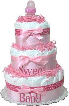 Diaper Cake. Baby Shower Diaper Cake. Diaper by DiaperCakesbyRuby