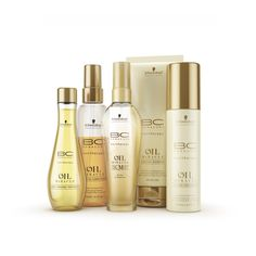 Schwarzkopf Professional BC hairtherapy Oil Miracle Light Range.