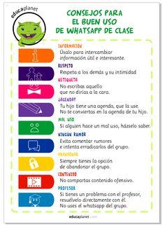 El Whatsapp de la clase: poster para su buen uso por parte de los padres y madres.