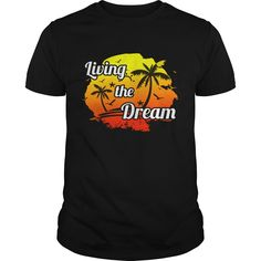 Get yours awesome Positive Thinking Gift Tee Living The Dream Shirts & Hoodies.  #gift, #idea, #photo, #image, #hoodie, #shirt, #christmas