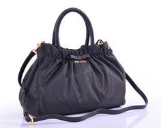 Black Prada Canvas Handbags