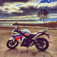 You like?? Ready to hit the road on the @hondapowerca CBR250R. #ontariomotoroads
