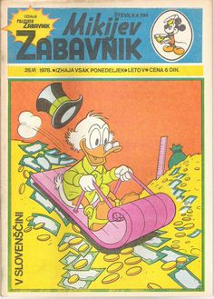 Yugoslavia - Mikijev Zabavnik (Slovenian)  Scanned image of comic book (© Disney) cover