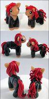 Black Widow Ponies by balletvamp