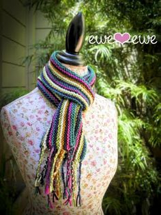 Wooly Stripe Scarf Free Knitting Pattern