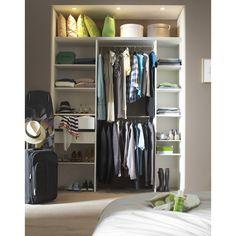 Kit dressing frêne blanc Modul'pack, x x cm Dressing En Kit, Dressing Pas Cher, Dressing Room, Dressing Leroy Merlin, Bedroom Storage, Home Crafts, Sweet Home, Closet, House Design