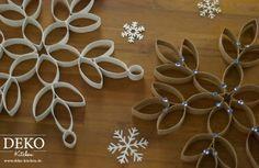 DIY: Weihnachtssterne aus Küchenrollen