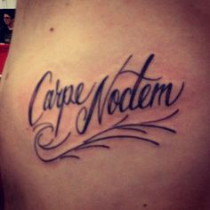 Unique carpe noctem tattoo Home Share Your Tattoo Tattoos Quotes Tattoo Ideas