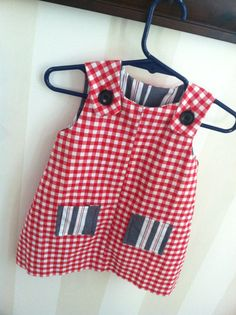 July 4th! Jumper for Lil' Girl and Make Same Type Pattern into a Romper for the Boys