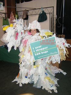 bag monster says... BAN PLASTIC BAGS!