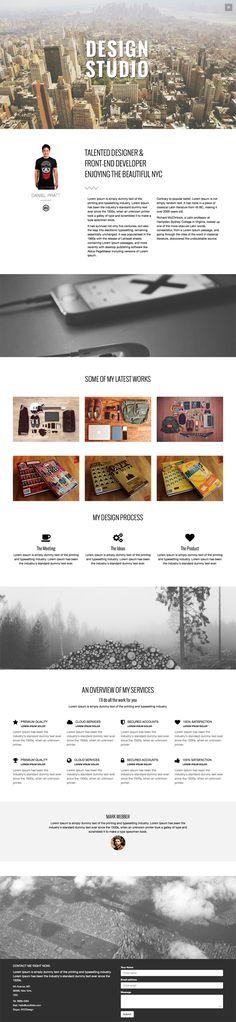 Studio – One Page Theme