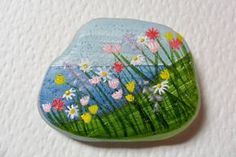 Wildflowers by the sea  Acrylic miniature by ShePaintsSmallThings, $15.00