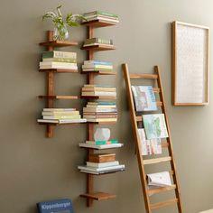 Sade ve yaratıcı tasarımları sevenlere özel bir kitaplık. Siz nasıl buldunuz?