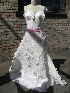 paper plate dress