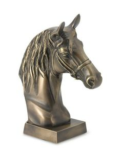 Brass Horse Head on Stand #williamssonoma