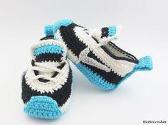 Crochet Baby Booties Crochet baby sneakers crochet by BUBUCrochet