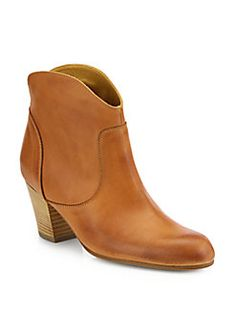 10022-SHOE Saks Fifth Avenue - Leather Ankle Boots